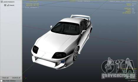 Toyota Supra JZA80 v1.4 для GTA 5 вид справа