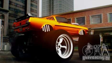 Ford Mustang 1966 Chrome Edition v2 Monster для GTA San Andreas вид справа