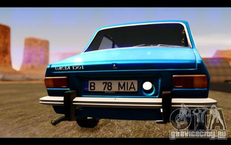 Dacia 1300 1969 для GTA San Andreas вид изнутри