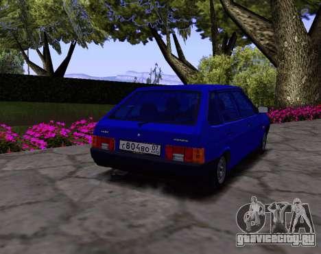 ВАЗ 2109 KBR для GTA San Andreas вид справа