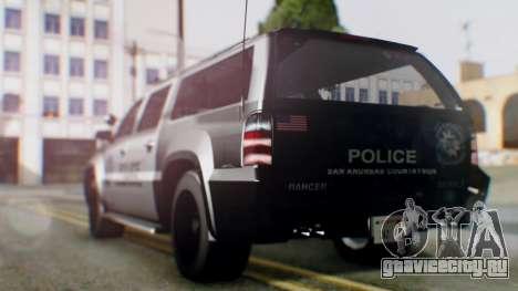 GTA 5 Police Ranger для GTA San Andreas вид сзади слева