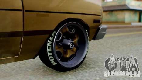 Dodge Dart 1975 Estilo Drag для GTA San Andreas вид сзади слева