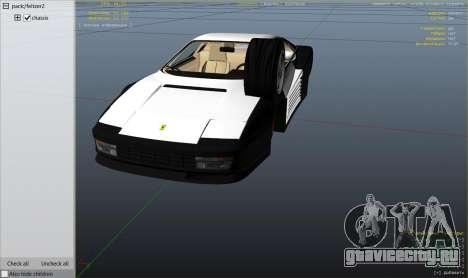 1984 Ferrari Testarossa 1.9 для GTA 5 вид справа