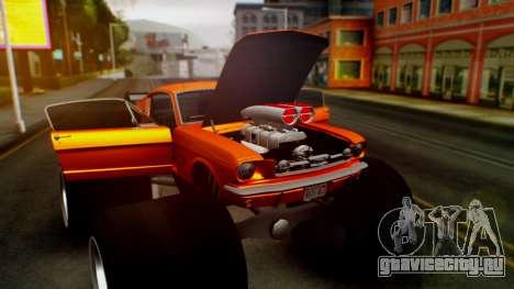 Ford Mustang 1966 Chrome Edition v2 Monster для GTA San Andreas вид сверху