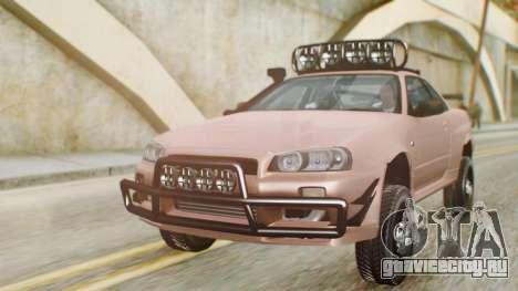 Nissan Skyline GT-R R34 RAID Spec для GTA San Andreas