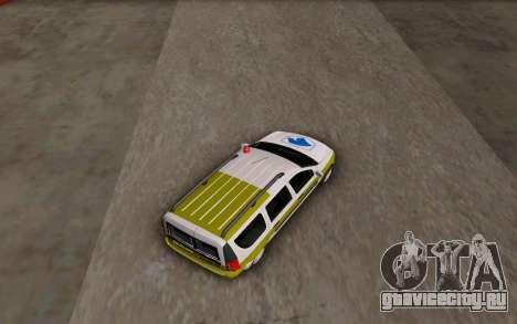 Dacia Logan Emdad Khodro для GTA San Andreas вид сзади слева