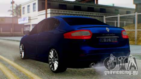 Renault Fluence King для GTA San Andreas вид слева