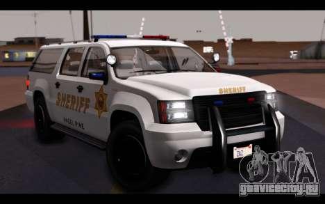 GTA 5 Declasse Sheriff Granger IVF для GTA San Andreas вид сбоку