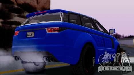 GTA 5 Gallivanter Baller LE Arm для GTA San Andreas вид сзади слева