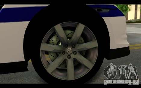Nissan GT-R Policija для GTA San Andreas вид сзади