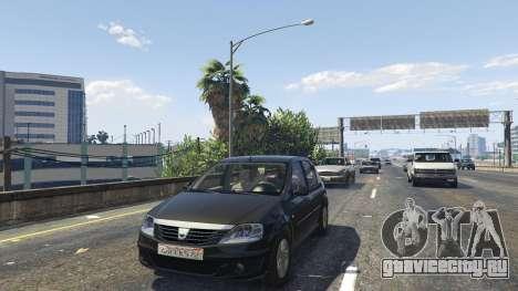 2008 Dacia Logan v2.0 FINAL для GTA 5 вид сзади справа