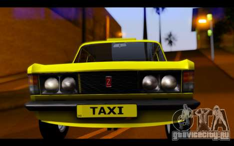 Zastava 125PZ Taxi для GTA San Andreas вид сзади