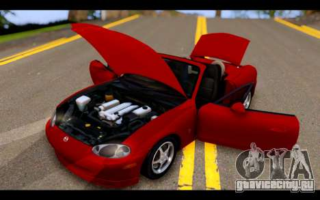 Mazda MX-5 для GTA San Andreas вид сбоку