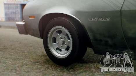 Ford Gran Torino 1974 IVF для GTA San Andreas вид сзади