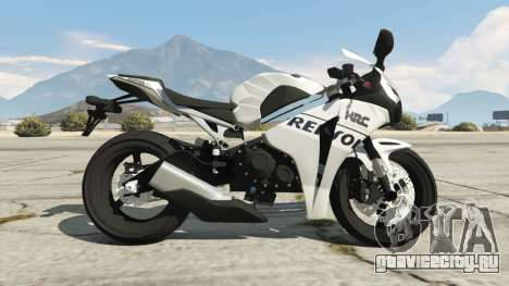 Honda CBR1000RR [Repsol White] для GTA 5 вид слева
