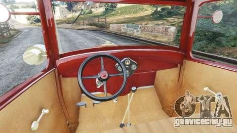 Ford Model A [mafia style] для GTA 5 вид сзади справа