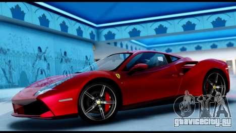 Ferrari 488 GTB 2016 для GTA San Andreas вид сзади слева