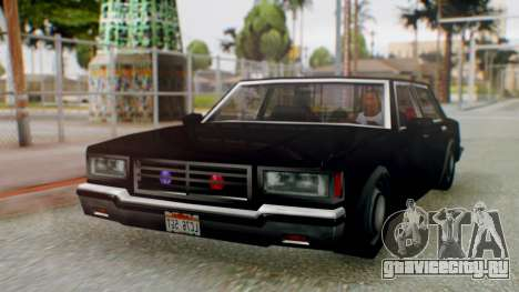 Unmarked Police Cutscene Car Stance для GTA San Andreas