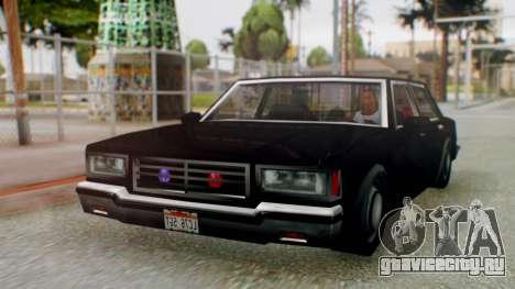Unmarked Police Cutscene Car Stance для GTA San Andreas