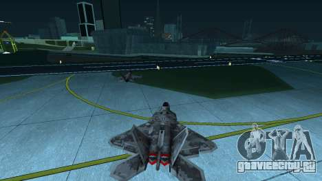 F-22 Raptor PJ для GTA San Andreas вид справа