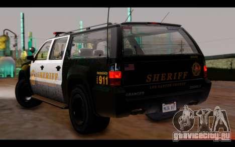 GTA 5 Declasse Sheriff Granger IVF для GTA San Andreas вид слева