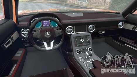 Mercedes-Benz SLS AMG GT3 для GTA 5 вид сзади справа