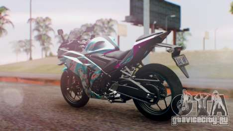 Yamaha R25 2015 EV Mirai Miku Racing 2013 для GTA San Andreas вид слева