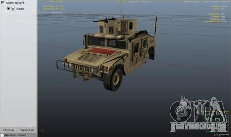 M1116 Humvee Up-Armored 1.1 для GTA 5