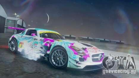 Mercedes-Benz SLS AMG GT3 2015 Hatsune Miku для GTA San Andreas