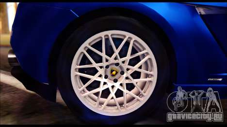 Lamborghini Gallardo LP560 для GTA San Andreas вид сзади слева