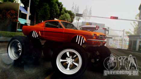 Ford Mustang 1966 Chrome Edition v2 Monster для GTA San Andreas вид сзади слева