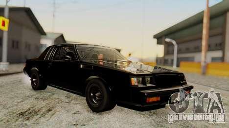 Buick GNX 1987 F&F4 для GTA San Andreas