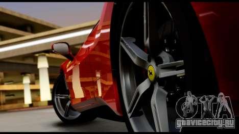 Ferrari 488 GTB 2016 для GTA San Andreas вид сзади