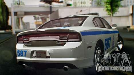 Dodge Charger SRT8 2015 Police Malaysia для GTA San Andreas вид слева