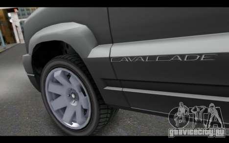 GTA 5 Albany Cavalcade IVF для GTA San Andreas вид сзади слева