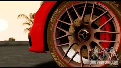 Mercedes-Benz CLS63 AMG 2015 для GTA San Andreas вид сзади слева