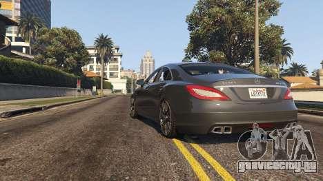 Mercedes-Benz CLS 63 AMG v.1.2 для GTA 5 вид сзади