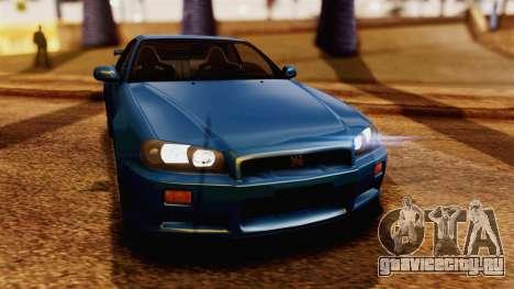 Nissan Skyline GT-R R34 V-spec 1999 для GTA San Andreas вид справа