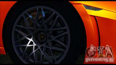 Lamborghini Gallardo LP560 PJ для GTA San Andreas вид сзади слева