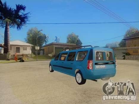 Lada Largus 7-door для GTA San Andreas вид справа