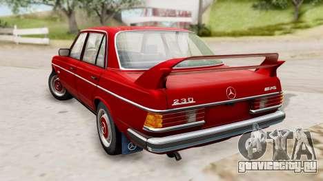 Mercedes-Benz 230E AMG 3.2 1982 Evolution Mod для GTA San Andreas вид слева