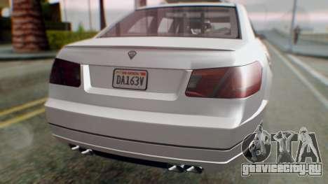 GTA 5 Benefactor Stretch E Turreted IVF для GTA San Andreas вид изнутри