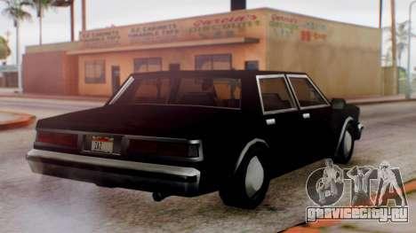 Unmarked Police Cutscene Car Normal для GTA San Andreas вид справа