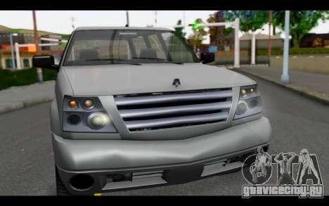 GTA 5 Albany Cavalcade IVF для GTA San Andreas вид справа