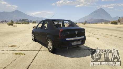 2008 Dacia Logan v2.0 FINAL для GTA 5 вид сзади слева