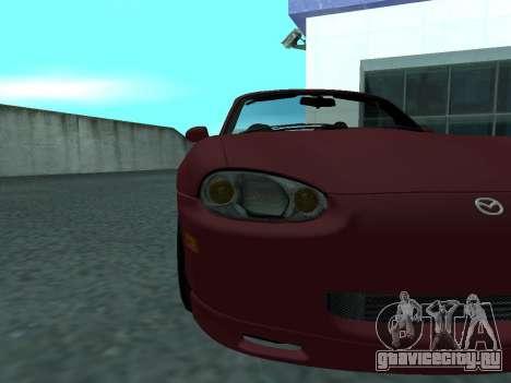 Mazda MX-5 для GTA San Andreas вид сзади
