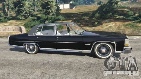 Cadillac Fleetwood Brougham 1985 для GTA 5 вид слева