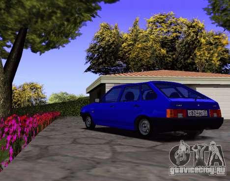 ВАЗ 2109 KBR для GTA San Andreas вид сзади слева