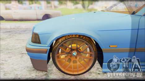 BMW M3 E36 Stanced-Hella для GTA San Andreas вид справа