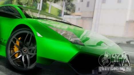 Lamborghini Murcielago LP670-4 SV 2010 для GTA San Andreas вид сзади слева